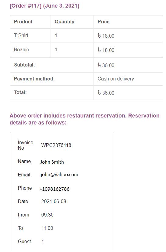 wpcafe order