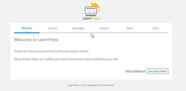 LearnPress Setup-wizard